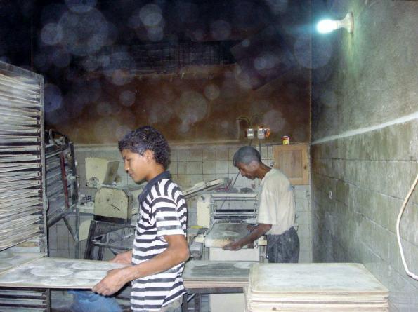 Baking Bread in Dahab, Egypt